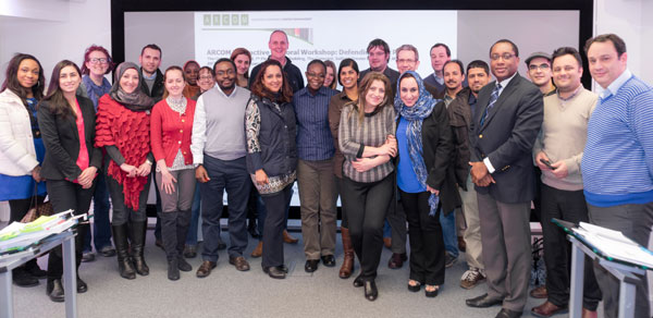 Participants of the Interactive Doctoral Workshop: Defending your PhD held at the University of Salford, 2014