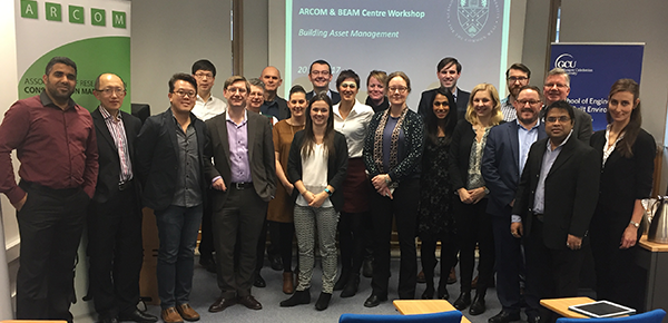 Participants of the Building Asset Management Early Career Researchers and Doctoral Workshop held at Glasgow Caledonian University, 2017
